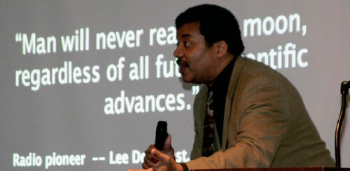 Neil deGrasse Tyson at the 2006 ISDC